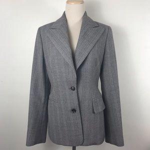 Celine Two Button Wool Stripe Print Blazer Jacket